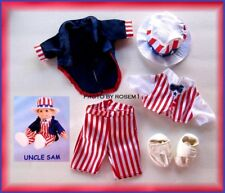 "New TY Gear Beanie Kids or Doll USA OUTFIT Uncle Sam Clothes fit a 10-12"" Doll"