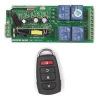 220V 110V 4 Way Wireless RF Remote Control Switch Transmitter+Receiver