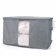 Large Garment Clothes Quilt Sheet Duvet Pillow Zipped Under Bed Storage Bag Box