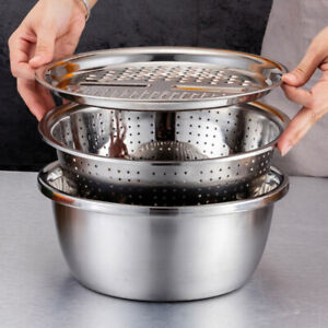 Kitchen Portable Multifunctional Stainless Steel Basin with Filter/Grater/Bowl