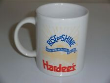 Vintage Hardee's Rise and Shine Made From Scratch Biscuits Coffee Mug Tea Cup