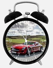 "Super Car SLS Alarm Desk Clock 3.75"" Home or Office Decor W183 Nice For Gift"