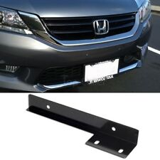 Black Aluminum Universal Fit Front Bumper License Plate Bracket Holder Bar