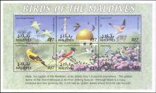 Maldives 2002 Kestrel/Parakeet/Oriole/Swift/Birds/Nature/Wildlife 6v sht (b9771)
