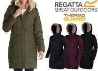 RRP £90 Regatta Womens/Ladies Fermina Thermoguard Padded Long Coat/Jacket