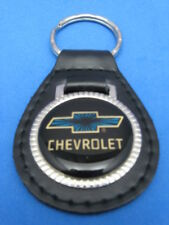 CHEVY BOW-TIE AUTO LEATHER KEYCHAIN KEY CHAIN RING FOB #007 BLACK