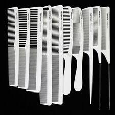 10Pcs/set Hairdresser Carbon Comb White Color Heat Resistant Hair Cutting Comb