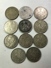 Japan old 50 Yen and 100 Yen world foreign silver coins lot years varies