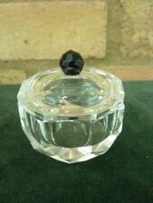 very pretty clear glass pot with lid great for dressing table