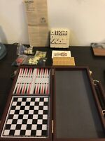 Travel Pack Game Set 6-1 Dominoes Chess Checkers Cribbage Backgammon Cards