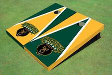 Baylor University Bear Head Alternating Triangle Custom Cornhole Board