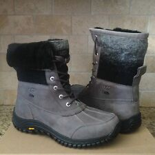 UGG Adirondack II Charcoal Waterproof Leather Wool Snow Boots Size US 10 Womens