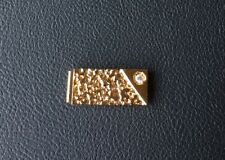 ONE OLD STOCK NEW GOLD PLATED NUGGET MONEY CLIP WITH RHINESTONE