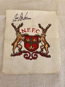 Vintage Football Nottingham Forest Shirt Badge Signed By Joe Baker