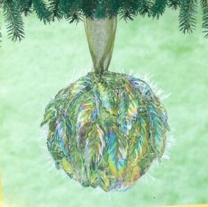 Sunrise DANCING LEAVES Beaded Sequin Christmas Ornament Kit - NEW