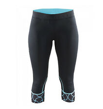 Craft Devotion Capri for Running Women's Size XS Black/Blue
