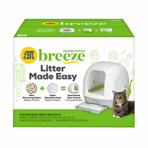Purina Tidy Cats Breeze Hooded Non-Clumping Cat Litter Box System Starter Kit ✔️