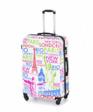 Maletas y equipaje blancos rígido