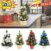 Mini Christmas Tree Desk Table Decoration Gift Cute Xmas Home Decor Decorations