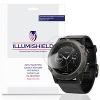 3x iLLumiShield Screen Protector Anti-Bubble for Garmin Fenix 5x (Fenix 5x Plus)