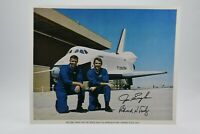 Official NASA ALT (Orbiter101) 8x10 Autopen Signed by Joe Engle & Richard Truly