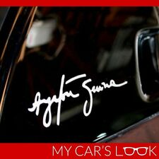 AYRTON SENNA SIGNATURE - Vinyl Dash Window Decal Graphic Sticker