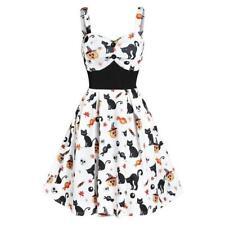 V Neck Halloween Print Dress - Plus Sizes Available