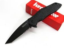 Kershaw Black Kuro Assisted Serrated Tanto Folding Pocket Knife 1835TBLKST
