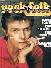 Rock & Folk  N°197  Juin 1983:david bowie Rod stewart Marley Marvin gaye