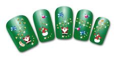 Nailart stickers autocollants ongles scrapbooking décorations Père Noël noeuds