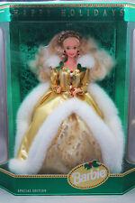 NRFB 1994 Mattel Happy Holidays Barbie Special Edition Doll Green Eyes