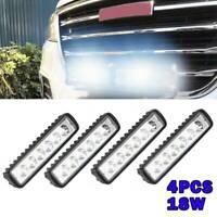 4PCS LED Work Light Bar Flood Spot Lights Driving Lamp Offroad Car Truck SUV 18W