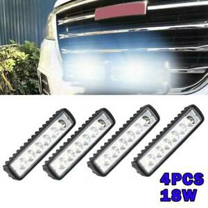 4PCS LED Work Light Bar Flood Spot Lights Driving Lamp Offroad Car Truck SUV 18W