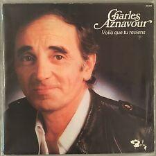 CHARLES AZNAVOUR - Voila Que Tu Reviens (Vinyl LP) FRANCE - Barclay 90-053