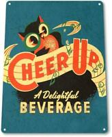 Cheer Up Soda Soda Cola Vintage Rustic Retro Tin Metal Sign