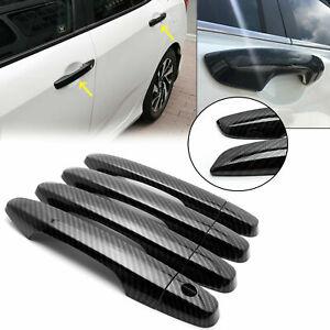 Carbon Fiber Style Door Handle Cover for Honda Civic 2012 2013 2014 2015 9th Gen