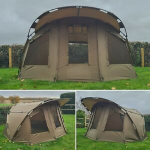 Quest MK3 2 Man Bivvy Carp Fishing Overnight Shelter Tackle 1 Brolly System Pram