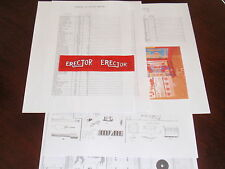 Inventory Check List & Parts Diagram for 8 1/2 Erector Set + Flag- Fast Shipping