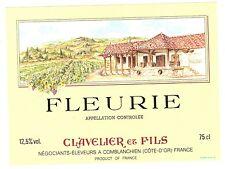 Etiquette de vin - FLEURIE - Maison Clavelier et Fils - Comblanchien