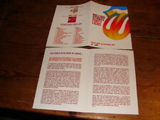 ROLLING STONES FORTY LICKS!RARE FRENCH PROMO BIO!!!!!!!