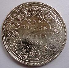 1862 British India Silver 1 Rupee Coin - Victoria Queen - 10 Dots - Ultra Rare