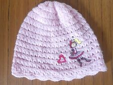 Girls' pink cap/hat featuring cartoon girl and heart, 2-6 years