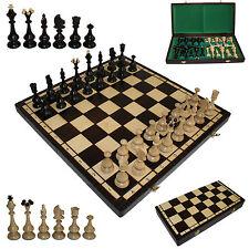 """Schachbrett mit Schachfiguren 46x46 cm, Schachspiel """"Montana"""", Schach aus Holz"""