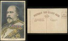 ROYALTY KING EDWARD 7th 1905 BAS RELIEF PPC J B + CO ARTIST CARD