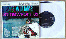 "JOE WILLIAMS - AT NEWPORT ' 63 - RCA LABEL - STEREO - 7"" EP - 33 1/3 RPM"