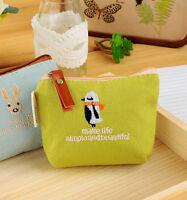 Retro Women's Coin Key Holder Case Small Canvas Purse Mini Bag Ladys Zip Wallet*