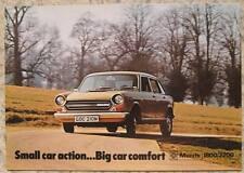 MORRIS 1800 & 2200 Car Sales Brochure Oct 1973 #2999