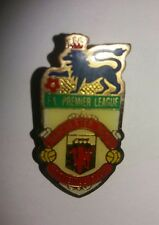 VINTAGE FA PREMIER LEAGUE MANCHESTER UNITED F.C. ENAMEL PIN BADGE