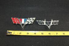 1964-67 Chevy Impala Emblem Bumper Flag 3840318 OEM new