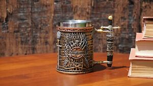"""Game of  Thrones 3D Mug (Stainless Steel Cup and Plastic cover): """" Iron Throne """""""